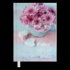 Ежедневник А5 датированный 2022 ROMANTIC голубой, твердая обложка