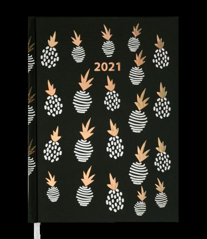Ежедневник А5 датированный 2021 MODERNA черный