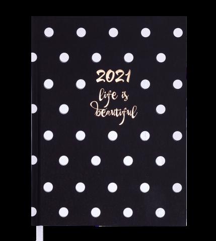 Ежедневник А5 датированный 2021 ELEGANT черный