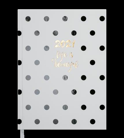 Ежедневник А5 датированный 2021 ELEGANT белый