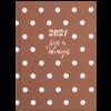 Ежедневник А5 датированный 2021 ELEGANT коричневый