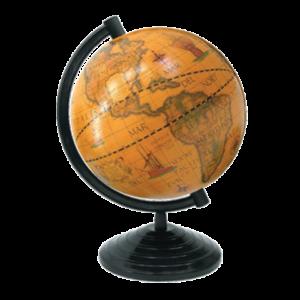 Глобус старинный, 160мм, Марко Поло, на латинском языке