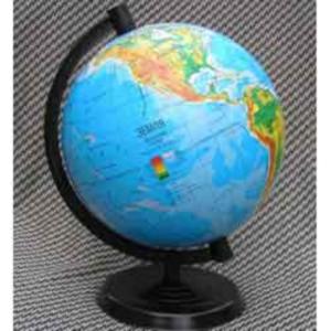 Глобус физический, 220мм, Марко Поло, на украинском языке
