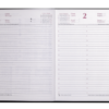 Ежедневник датированный 2021 FANCY, А5, черный, твердая обложка 41818