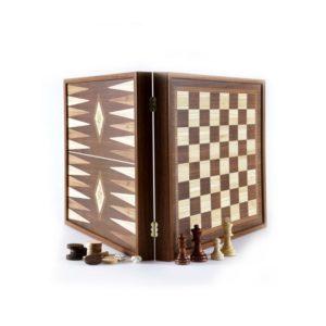 Шахматы +шашки + нарды Manopoulos коричневый STP28E