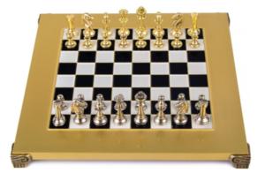 Шахматы Manopoulos Классические фигуры, серебро и золото S32BLA