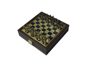 Шахматы дорожные Manopoulos Византийская империя, синий SK1BLU