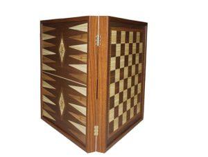 Шахматы + нарды Manopoulos коричневый STP36E