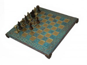 Шахматы Manopoulos Спартанский воин, бирюзовый S16CMTIR