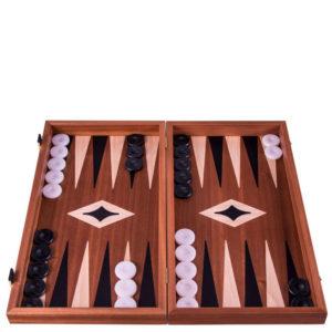 Шахматы + шашки + нарды Manopoulos американский орех TS3MBLA