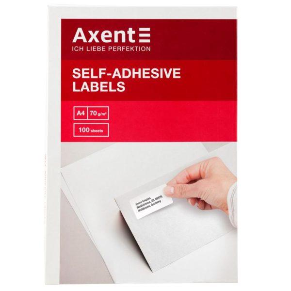 Этикетки самоклеящиеся белые прямоугольные, 44 шт/л., 48,3х25,4 мм, 100 листов в упаковке