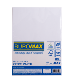 Бумага офисная, EUROMAX, А4, 80г/м2, 100 листов