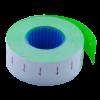 Ценник 22×12 мм (1000 шт, 12 м), прямоугольный, внутренняя намотка, зеленый, 10шт/туба