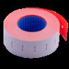 Ценник 22×12 мм (1000 шт, 12 м), прямоугольный, внутренняя намотка, красный, 10шт/туба
