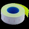 Ценник 22×12 мм (1000 шт, 12 м), прямоугольный, внутренняя намотка, желтый, 10шт/туба
