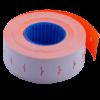 Ценник 22×12 мм (1000 шт, 12 м), прямоугольный, внутренняя намотка, оранжевый, 10шт/туба