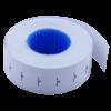 Ценник 22×12 мм (1000 шт, 12 м), прямоугольный, внутренняя намотка, белый, 10шт/туба