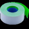 Ценник 26×16 мм (1000 шт, 12 м), прямоугольный, внутренняя намотка, зеленый, 10шт/туба