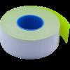 Ценник 26×16 мм (1000 шт, 12 м), прямоугольный, внутренняя намотка, желтый, 10шт/туба