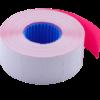 Ценник 26×16 мм (1000 шт, 12 м), прямоугольный, внутренняя намотка, малиновый, 10шт/туба