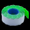 Ценник 22×12 мм (1000 шт, 12 м), фигурный, внутренняя намотка, зеленый, 10шт/туба