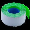 Ценник 26×16 мм (1000 шт, 12 м), фигурный, внутренняя намотка, зеленый, 10шт/туба