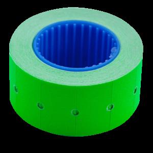 Ценник 22×12 мм (500 шт, 6 м), прямоугольный, внешняя намотка, зеленый, 10шт/туба