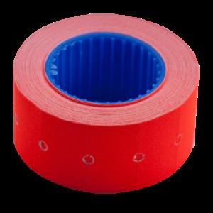 Ценник 22×12 мм (500 шт, 6 м), прямоугольный, внешняя намотка, красный, 10шт/туба