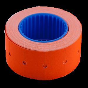 Ценник 22×12 мм (500 шт, 6 м), прямоугольный, внешняя намотка, оранжевый, 10шт/туба