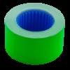 Ценник 26×16 мм (375 шт, 6 м), прямоугольный, внешняя намотка, зеленый, 10шт/туба
