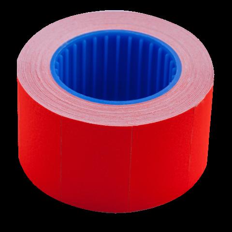 Ценник 26×16 мм (375 шт, 6 м), прямоугольный, внешняя намотка, красный, 10шт/туба
