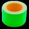 Ценник 35×25 мм (240 шт, 6 м), прямоугольный, внешняя намотка, зеленый, 10шт/туба
