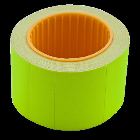 Ценник 35×25 мм (240 шт, 6 м), прямоугольный, внешняя намотка, желтый, 10шт/туба