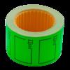 "Ценник 35×25 мм, ""ЦІНА"", (240 шт, 6 м), прямоугольный, внешняя намотка, зеленый, 10шт/туба"