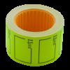 "Ценник 35×25 мм, ""ЦІНА"", (240 шт, 6 м), прямоугольный, внешняя намотка, желтый, 10шт/туба"