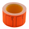 "Ценник 35×25 мм, ""ЦІНА"", (240 шт, 6 м), прямоугольный, внешняя намотка, оранжевый, 10шт/туба"