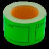 "Ценник 50×40 мм, ""ЦІНА"", (150 шт, 6 м), прямоугольный, внешняя намотка, зеленый, 10шт/туба"