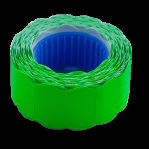 Ценник 22×12 мм (500 шт, 6 м), фигурный, внешняя намотка, зеленый, 10шт/туба