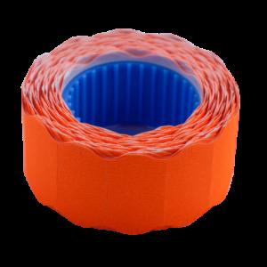Ценник 22×12 мм (500 шт, 6 м), фигурный, внешняя намотка, оранжевый, 10шт/туба