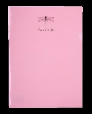 Папка-уголок FAVOURITE, PASTEL, А4, розовая
