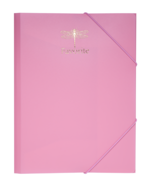 Папка на резинках А4, FAVOURITE, PASTEL, розовая