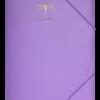 Папка на резинках А4, FAVOURITE, PASTEL, сиреневая