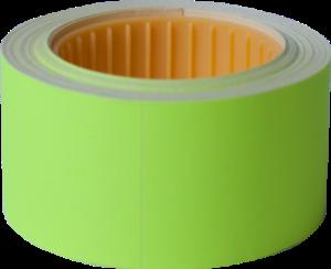 Ценник 30×40 мм, (150 шт, 4.5 м), прямоугольный, внешняя намотка, желтый, 10шт/туба