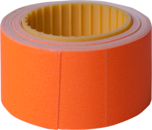 Ценник 30×40 мм, (150 шт, 4.5 м), прямоугольный, внешняя намотка, оранжевый, 10шт/туба