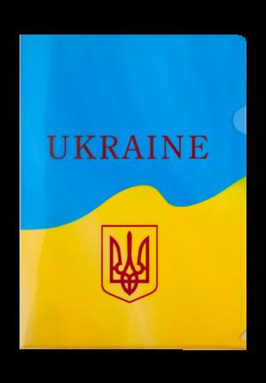 Папка-уголок А4, UKRAINE, желтый