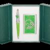 """Набор подарочный """"Crystal Heart"""" : ручка шариковая + визитница, зеленый"""