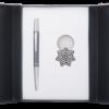 """Набор подарочный """"Star"""": ручка шариковая + брелок, черный"""