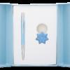 """Набор подарочный """"Star"""": ручка шариковая + брелок, синий"""