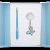 """Набор подарочный """"Night Moth"""": ручка шариковая + брелок, синий"""
