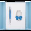 """Набор подарочный """"Lightness"""" : ручка шариковая + крючок для сумки, синий"""